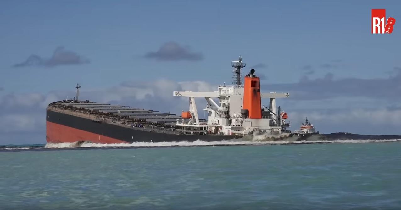 【龙网】_日本货轮触礁大量燃油泄漏,毛里求斯进入紧急状态
