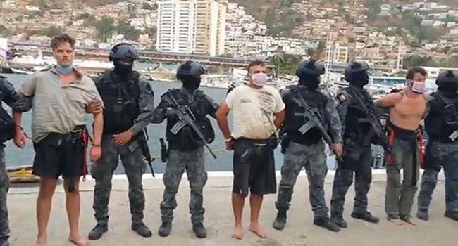 5月的入侵中被捕的武装分子,视频截图