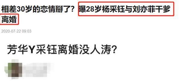 刘亦菲干爹与冯女郎离婚?网友:什么时候结的