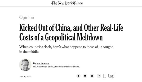 【百度搜索优化】_《纽约时报》原驻华记者:我被踢出中国,感到真的很疼