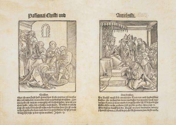 《Passional Christi und Antichristi》(1521年)中克拉纳赫的木刻插图