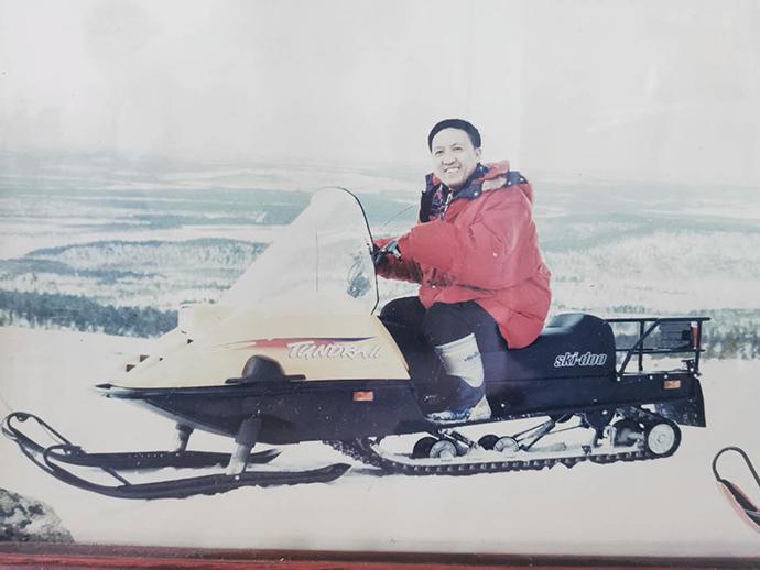 刘尚林的照片,30块钱一张卖给学员。 受访者供图