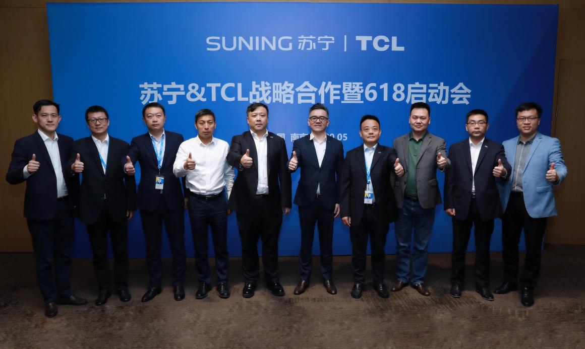 618临近,TCL高层现身家电第一渠道苏宁