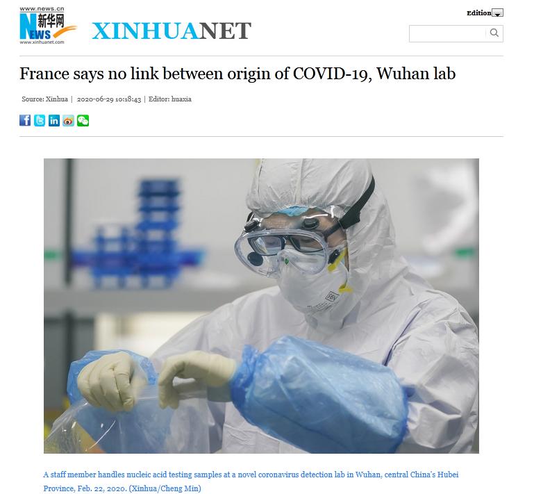 【百度快速排名软件】_法国外交部:没有信息证明新冠病毒与武汉病毒研究所存在联系