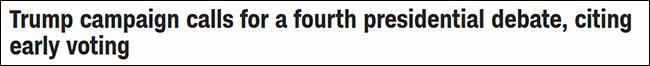【公牛通讯】_等不及了?特朗普想提前和拜登加赛一场大选辩论