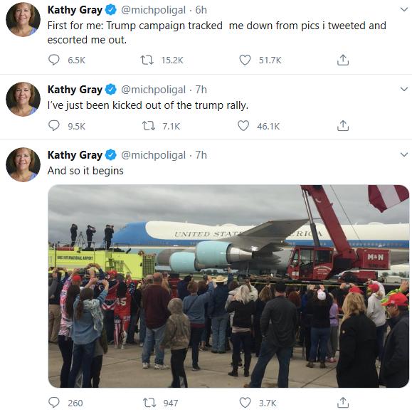 格蕾推文截图