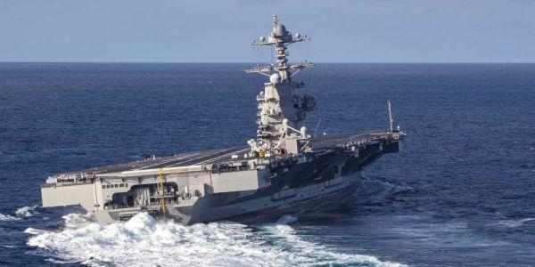 "资料图片:美国海军""福特""号航母"