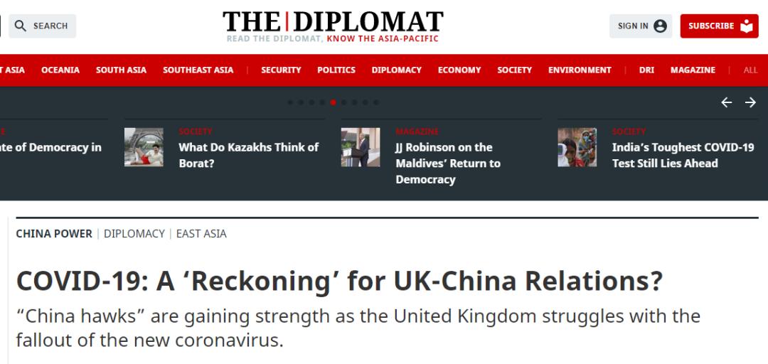 截图来自《外交学者》网站的报道