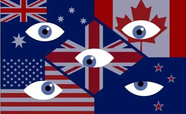 """臭名昭著的""""五眼联盟"""":美国、英国、加拿大、澳大利亚、新西兰"""