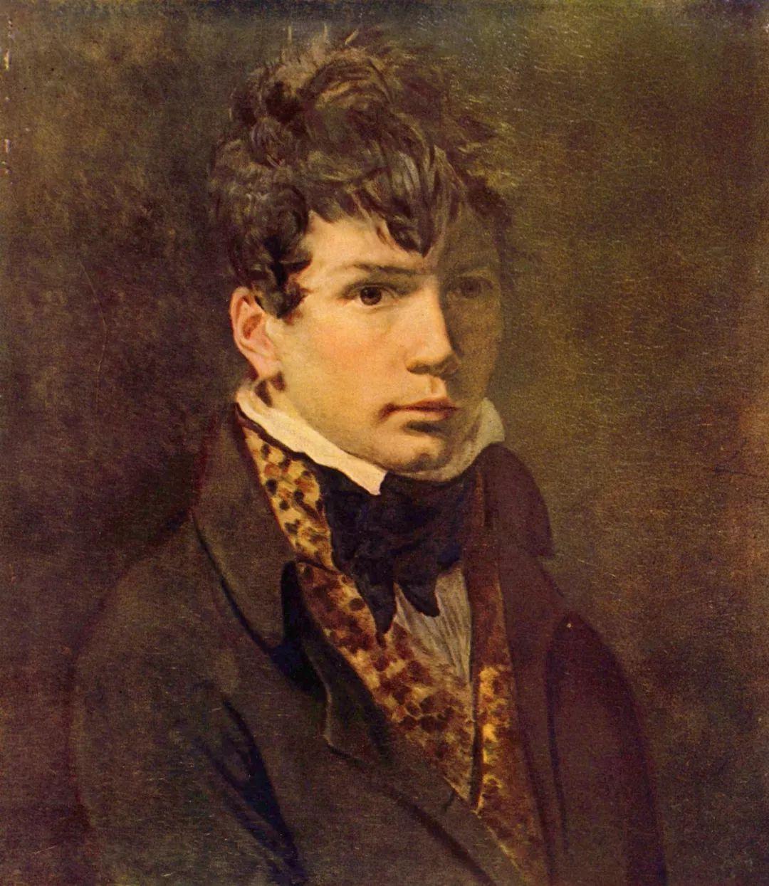 达维特为年轻的安格尔画的肖像.