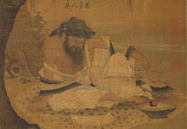 宋 《柳荫高士图》(局部)台北故宫博物院藏
