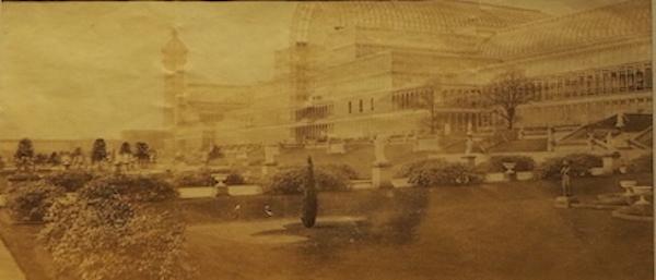 1854年原版照片《辛顿汉姆水晶宫》