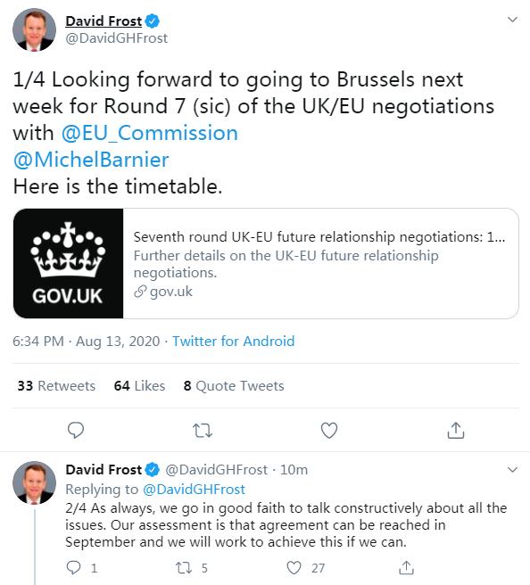 """【帮站精品】_英国谈判代表:英欧预计9月可达成""""脱欧""""协议"""