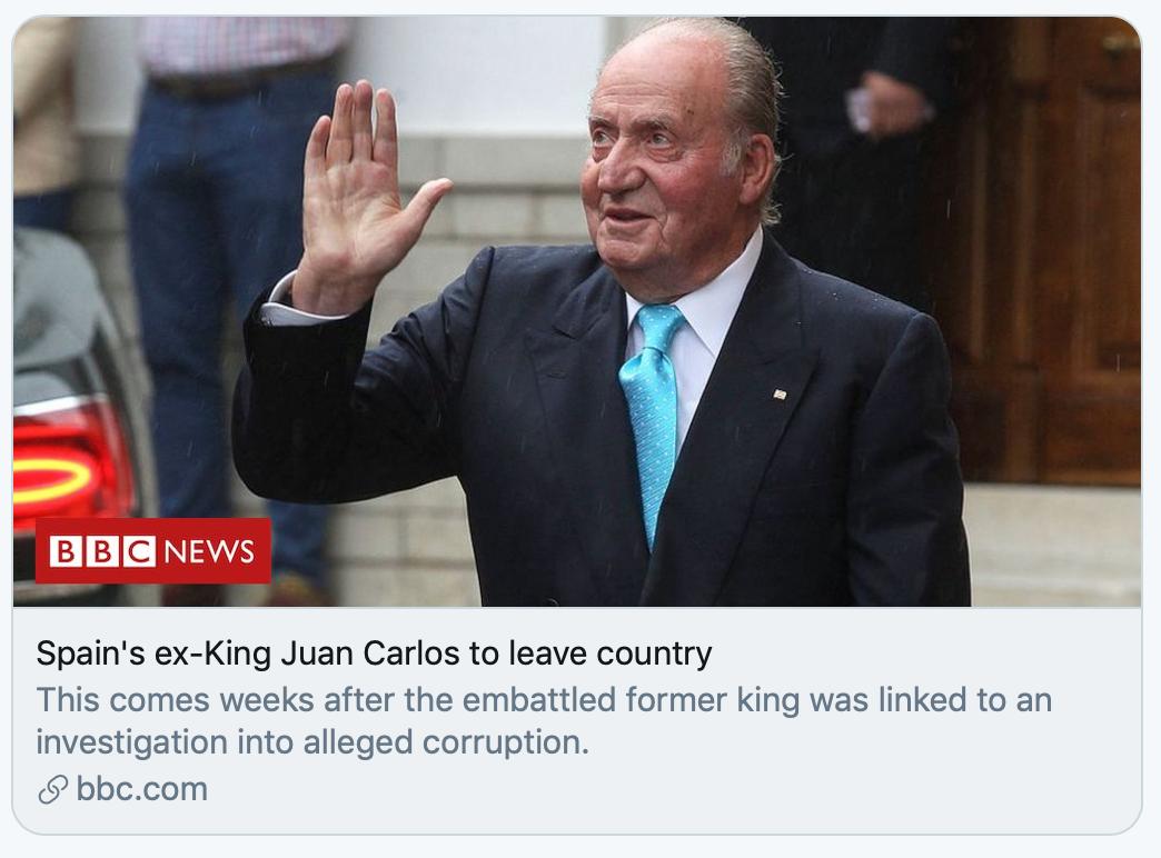 """【人生订票】_82岁西班牙""""太上皇""""流亡海外,丑闻缠身的他该何去何从?"""
