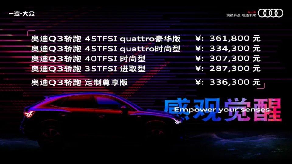 档案解密全集豪华A级轿跑SUV奥迪Q3轿跑正式上市