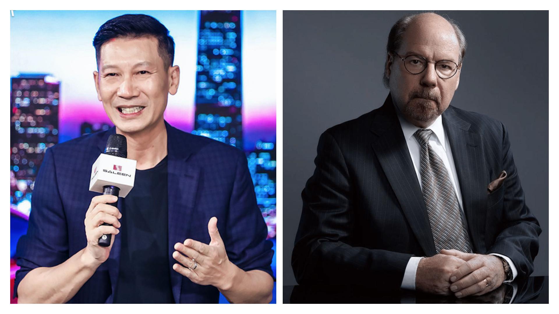 江苏赛麟董事长王晓麟(左和技术出资人史蒂夫·赛麟。
