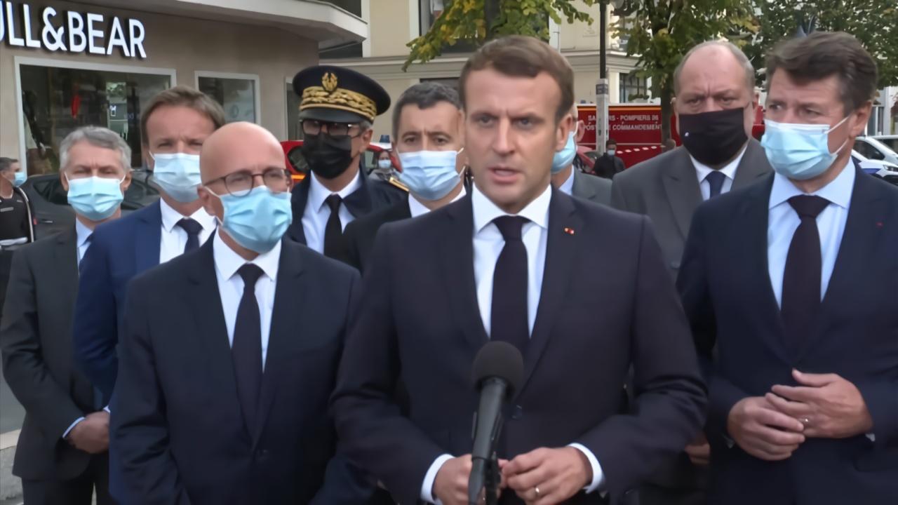 法国发生持刀袭击事件,法国总统马克龙称将增倍反恐军人