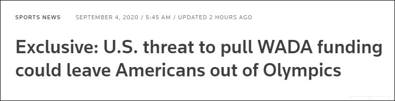 【呼和浩特楼凤验证】_世界反兴奋剂机构:若美国撤资,可能被禁止参加奥运会