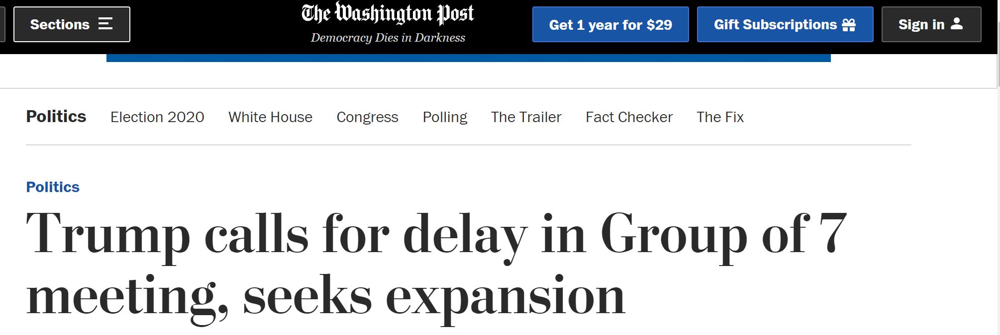 【btcchina.com】_特朗普称将把G7会议推迟至秋季 并呼吁扩大成员规模