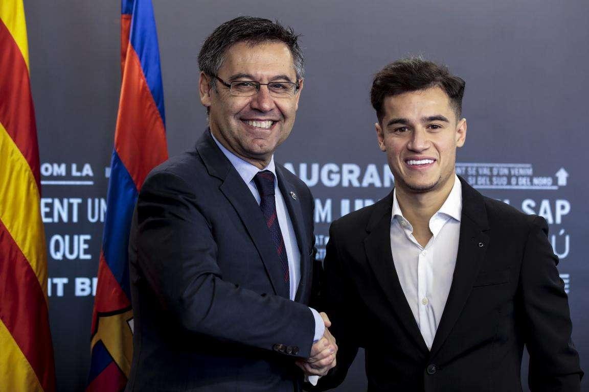 巴托梅乌1.45亿欧元买来库蒂尼奥。