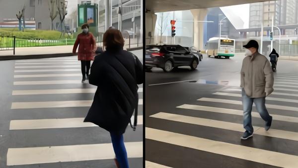 武汉一线:市民戴口罩谈肺炎