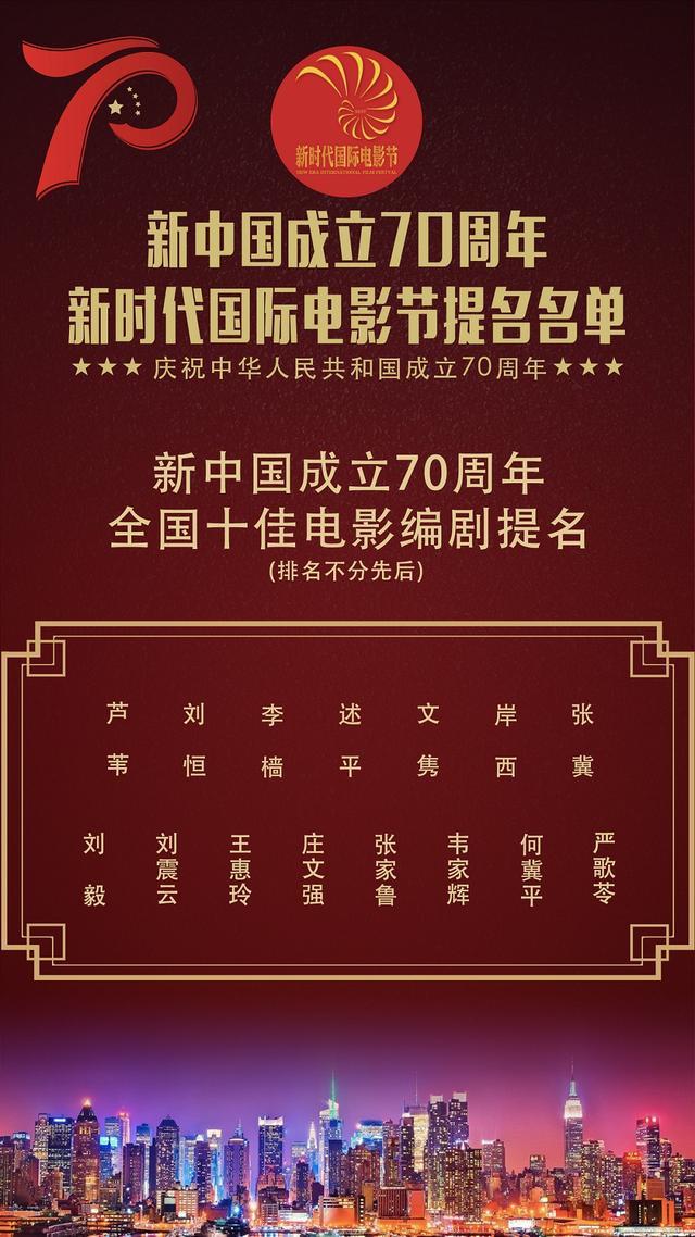 新时代国际电影节全国十佳电影编剧提名,老中青三代编剧聚首,你选择谁?