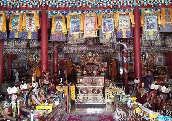 10月10日,大威德金刚法会现场。(图片来源:凤凰网佛教 摄影:赤峰康宁寺)