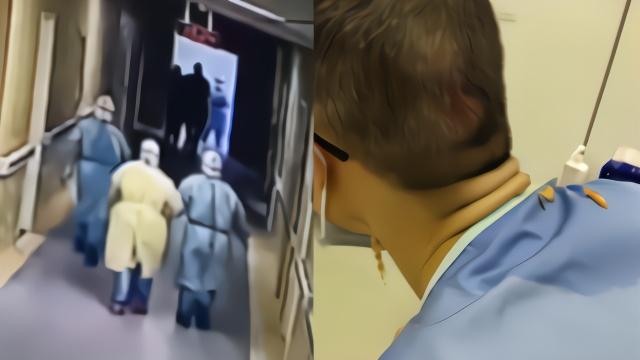 心疼!援鄂护士护理病人时晕倒摔破头