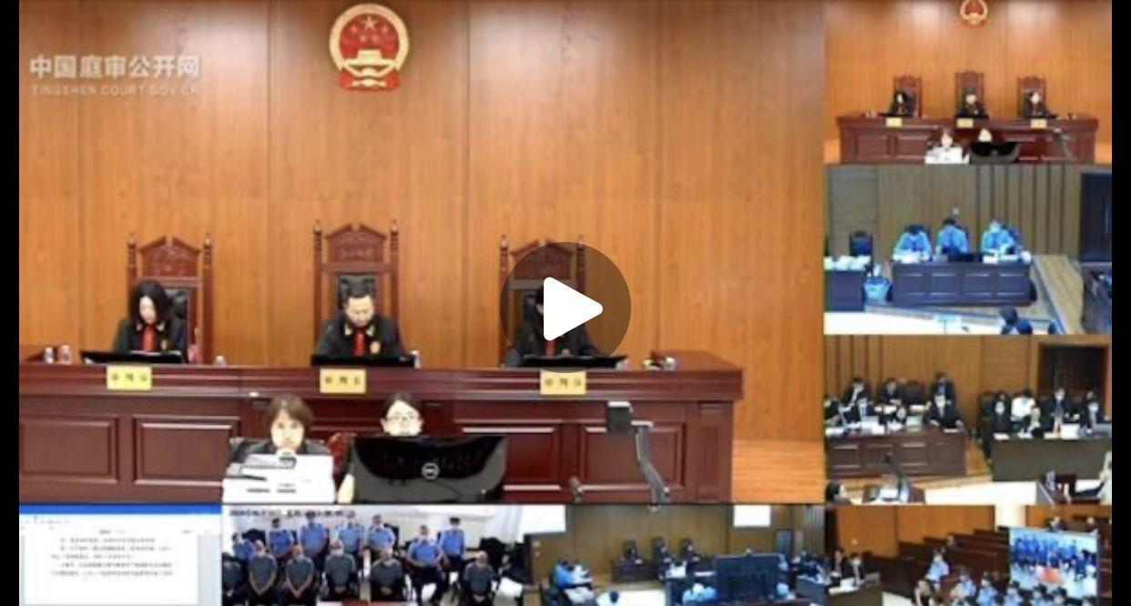 ▲中国庭审公开网视频截图。