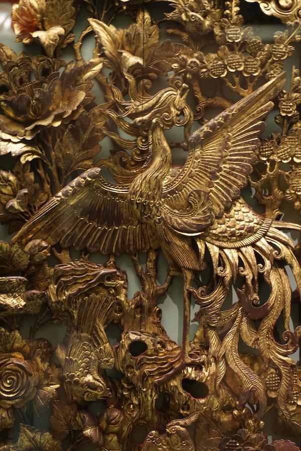 潮州木雕中的凤凰主题