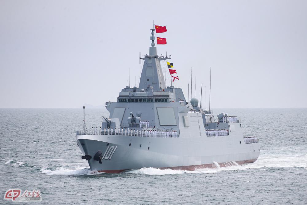 中国海军055型驱逐舰首舰南昌舰