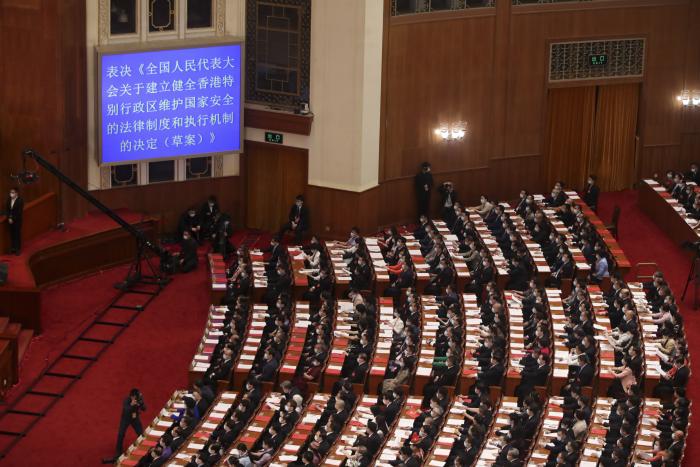 5月28日,十三届全国人大三次会议以高票表决通过全国人大涉港国安立法决定