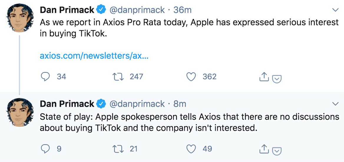 "【ibm认证】_苹果否认""有兴趣""收购TikTok:公司没有讨论过"