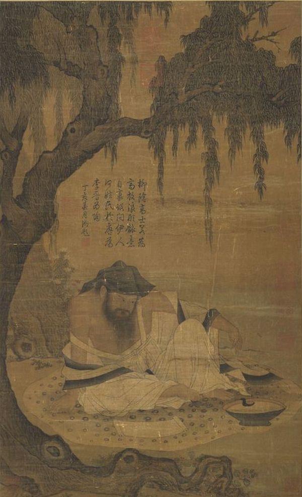 宋人 《柳荫高士图》 台北故宫博物院藏