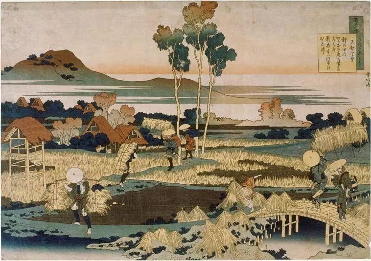 秋天的农民   葛饰北斋 约1799