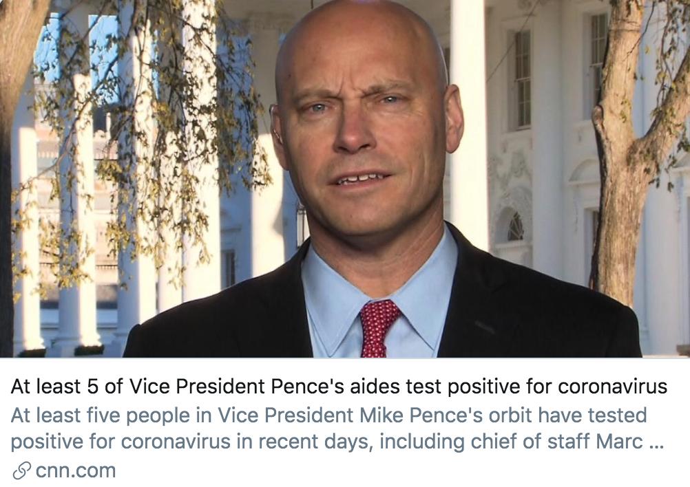 【bm】_彭斯身边至少5人确诊,新冠病毒笼罩下的白宫还好吗?