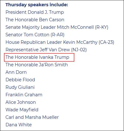 特朗普团队公布的名单截图