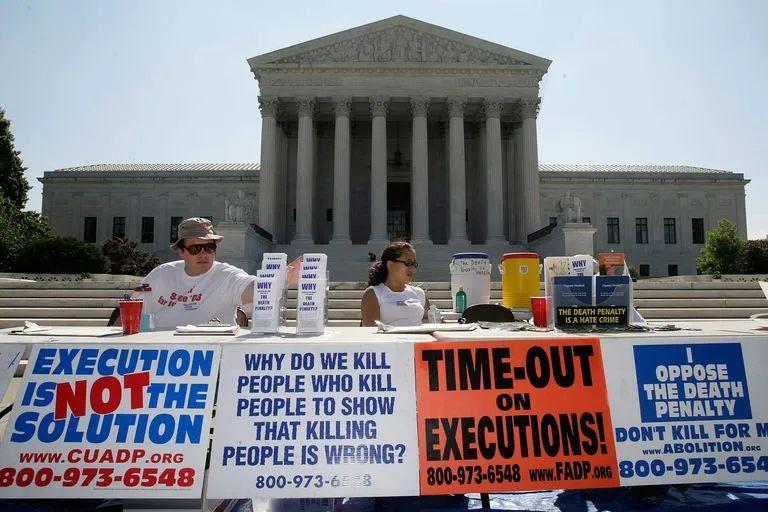 图说:抗议死刑集会。图源:GETTY IMAGES