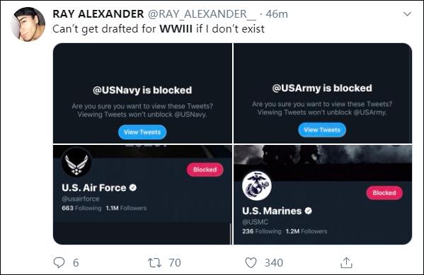 美國人炸了,第三次世界大戰上推特熱搜(圖)