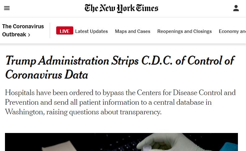 """【关键字排名查询工具】_特朗普政府""""接管""""疫情数据,政治彻底压倒科学?"""