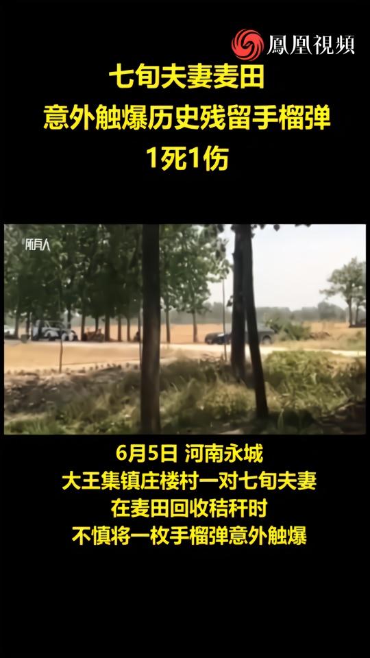 七旬夫妻意外触爆历史残留手榴弹,1死1伤