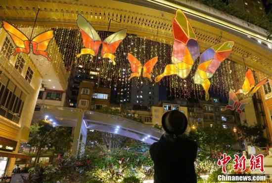 全球首个人工智能蝴蝶光影艺术装置亮相香港利东街