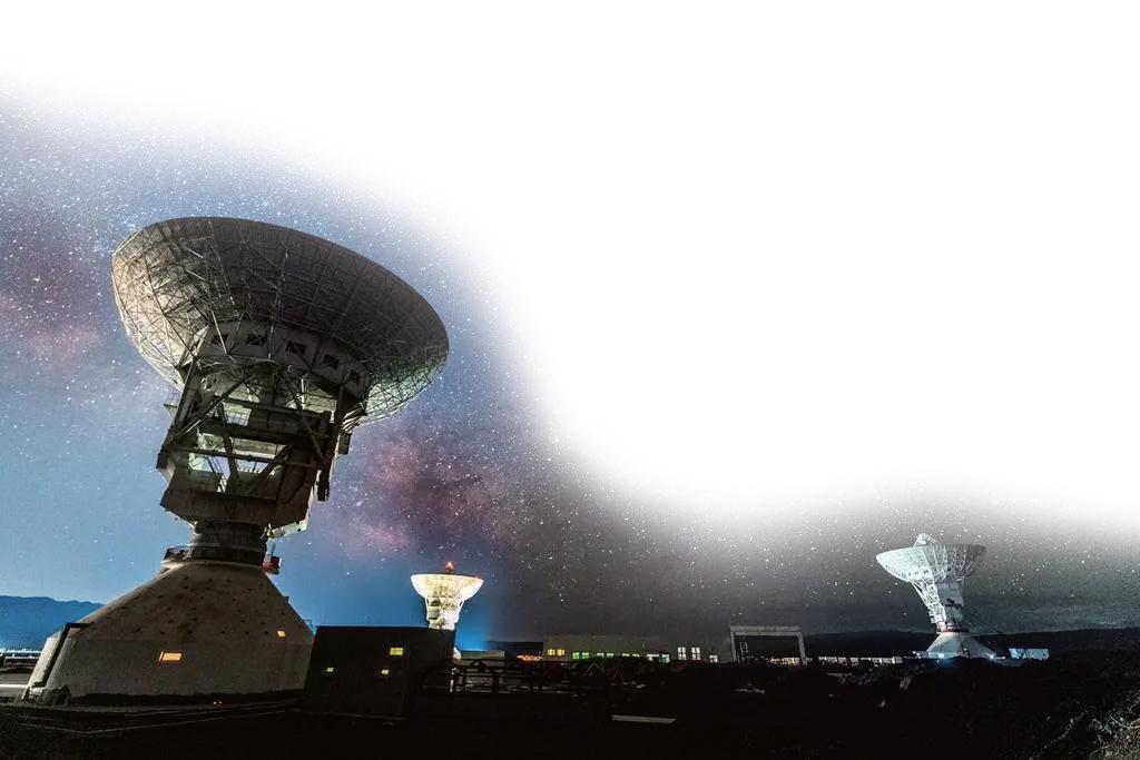 仰望星空的我国首个35米深空天线组阵系统。