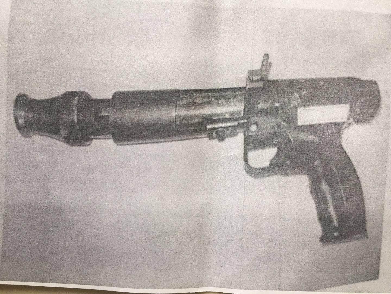 龚先生被警方查获的射钉枪。本文图均为当事人供图