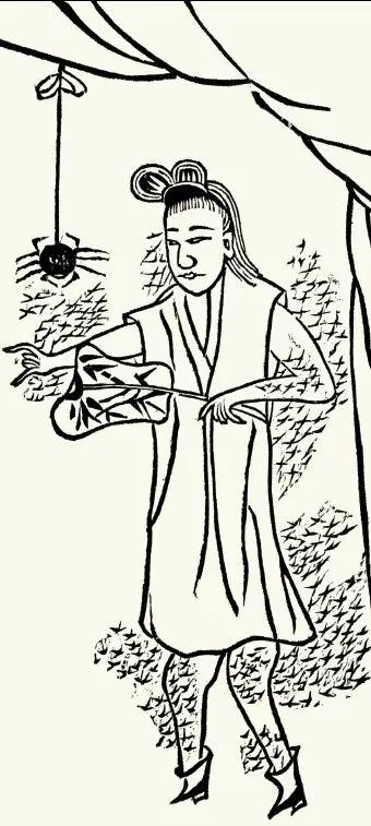 晚清版画描绘的露筋祠故事,陆氏贞女宁可被蚊子叮咬也要守住贞洁。出自麦嘉湖《如何对付中国的蚊子》,见赵省伟编《远东杂志记录的晚清,1876—1878》上册