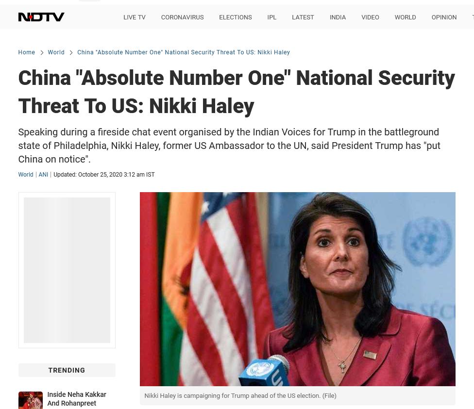 "【www.kugo.com】_""中国绝对是美国头号威胁"",首位印裔美国内阁级高官让印媒嗨了"