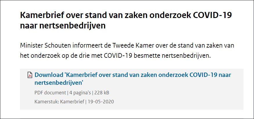 荷兰政府:水貂可能将新冠病毒传给人 清查所有养殖场