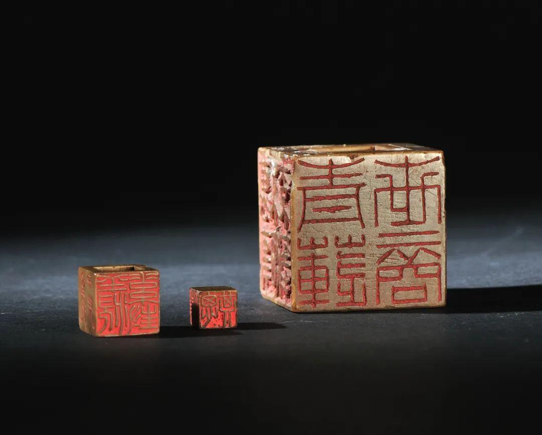 清 寿山石套章