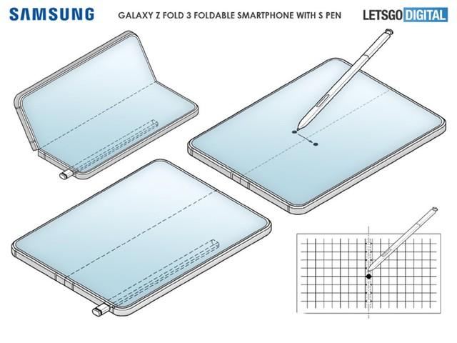 三星可折叠手机专利公开 可以使用S Pen
