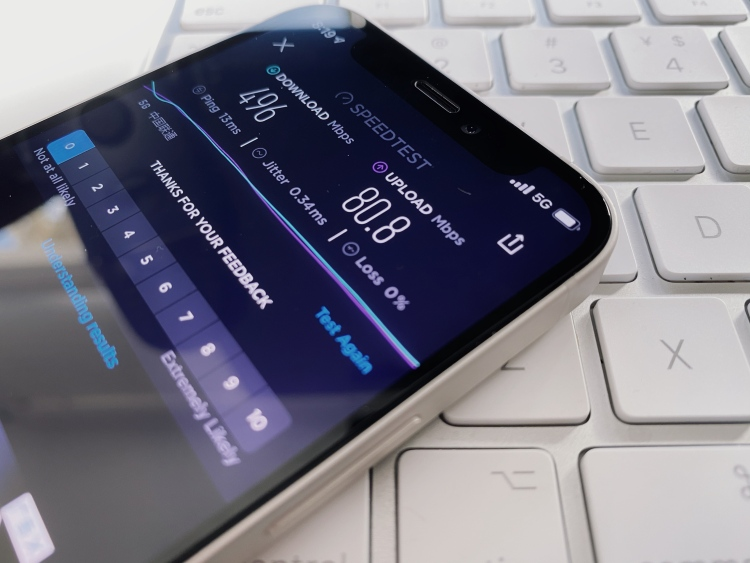 """""""5G 唯一指定 app""""Speedtest 的表现还是很让人满意的"""